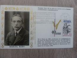 MARCEL ROBY (1884-1942) Professeur - Lycée Collège Marcel Roby St-Germain-en-Laye - Année 1985 - - Oblitérés