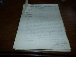 Document Football Union Sportive Frameries 1934 - Historical Documents