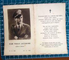 Necrologio Luttino - GIAN PAOLO LAZZARINO In Uniforme (nascita 1924 Morte 1948 ) - Obituary Notices