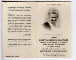 Doodsprentje VROUW FEMME E. CHRISTYN COMTESSE De RIBAUCOURT  °1910 ST-GILLES-LEZ-BRUXELLES +1971 BRUXELLES - Images Religieuses
