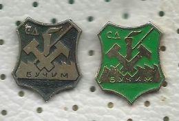 Wrestling Pins - 2 Pins - Wrestling Club Bucim ( Mining Sport Club ) - Macedonia - Lucha