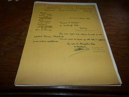 Document Football  Bosquétia Club Frameries 1944 Décès Président Hénaut De Givry - Historical Documents