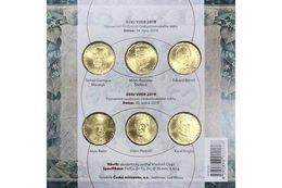 Official Set Of 20 Korun Coins 2018 + 2019 (6 Coins) UNC Czech Republic - Czech Republic