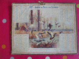 Almanach Des PTT . Calendrier Poste 1927. Affut Aux Canards. Chasse - Calendriers