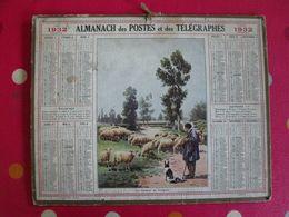 Almanach Des PTT . Calendrier Poste 1932. Les Gardiens Du Troupeau - Calendriers