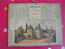 Almanach Des PTT . Calendrier Poste 1933. Fougères (ille-et-vilaine) L'entrée Du Château - Calendriers