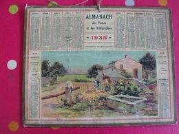 Almanach Des PTT . Calendrier Poste 1935. Crépuscule (paysage De Saintonge) - Calendriers