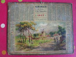 Almanach Des PTT . Calendrier Poste 1937. Le Vieux Moulin (Oléron) - Calendriers