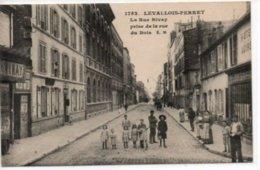 Levallois-Perret- La Rue Rivay Prise De La Rue Du Bois - Levallois Perret