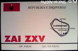 QSL - CARD CLIPPERTON, REPUBLIKA E SHQIPERISE (OCEANO PACIFICO - FRANCIA) - 1991 - Radio Amateur