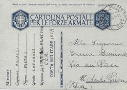P.M. 101 Carte De Franchise Militaire Italienne FM 1941 Voyagée - Correo Militar (PM)