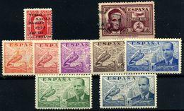 España Nº 741, 880/6, 992. Año 1936/45 - 1931-Aujourd'hui: II. République - ....Juan Carlos I