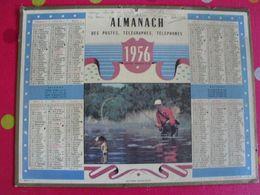 Almanach Des PTT. Cantal. Calendrier Poste 1956. Pêche - Grand Format : 1941-60
