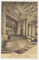 CREDIT LYONNAIS PARIS - Escalier De Vestibule - Côté Rue Du 4 Septembre - Banks