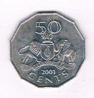 50 CENTS 2001 SWAZILAND /5008/ - Swaziland