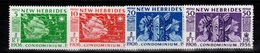 Nouvelles Hebrides - YV 171 à 174 N** Complete Cinquentenaire Legende Anglaise Cote 8+ Euros - English Legend