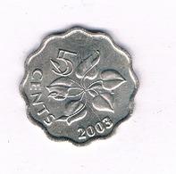 5 CENTS 2003 SWAZILAND /5010/ - Swaziland