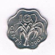 10 CENTS 2002 SWAZILAND /5011/ - Swazilandia