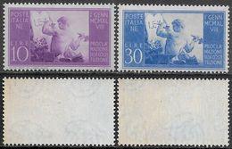 Italia Italy 1948 Costituzione Sa N.578-579 Completa Nuova Integra MNH ** - 1946-60: Nieuw/plakker