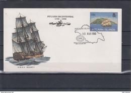 Pitcairn Inseln Michel Cat.No. Postal Stat Cocer 15c Sailing Ship Cto (4) - Briefmarken