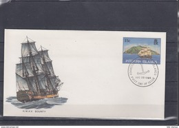 Pitcairn Inseln Michel Cat.No. Postal Stat Cocer 15c Sailing Ship Cto (3) - Briefmarken