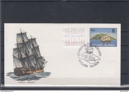 Pitcairn Inseln Michel Cat.No. Postal Stat Cocer 15c Sailing Ship Cto (1) - Briefmarken