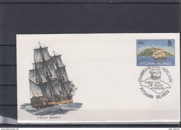 Pitcairn Inseln Michel Cat.No. Postal Stat Cocer 15c Sailing Ship Cto (2) - Briefmarken