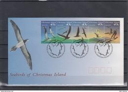 Weihnachts Inseln Michel Cat.No. FDC 379/383 + Sheet 7 Birds - Christmas Island