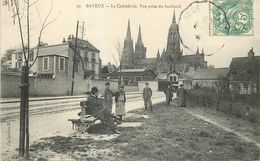 14 BAYEUX - La Cathédrale. Vue Prise Du Boulevard - Bayeux