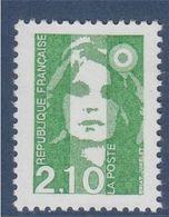 Marianne De Briat Dite Du Bicentenaire N°2622 Neuf 2f10 Vert - 1989-96 Bicentenial Marianne