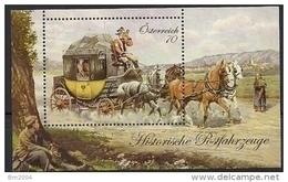 2013 Austria Mi. Bl 77 **MNH  Historische Postfahrzeuge - Blocks & Kleinbögen