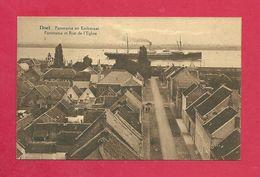 C.P. Doel =  Panorama  En  Kerkstraat - Beveren-Waas
