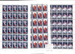 NN - [99948]TB//**/Mnh-NN - Belgique 1964 - N° 1290/92, Internationale SOCIALISTE, SC En Feuilles De 30 Dont Variétés - Ongebruikt
