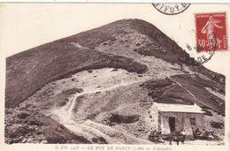 63. PUY DE SANCY . CPA.LE RESTAURANT - REFUGE.  ANIMATION. ANNÉE 1936 + TEXTE - Le Mont Dore