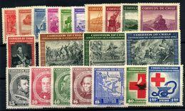 Chile Nº 187/211. Año 1942/45 - Chili
