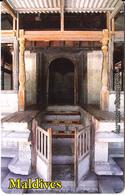 MALDIVES ISL.(chip) - Kalhuvakaru Miskiy/Mosque Built In The Late 18th Century, CN : 0465, Used - Maldivas