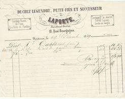 Bordeaux, Gironde, Legendre/Laporte, Marchand Cordier 1849 - 1800 – 1899