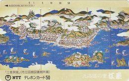 Télécarte Ancienne JAPON / NTT 430-042 - BATEAU VOILIER Peinture - SHIP - Painting JAPAN Phonecard / TBE - Malerei