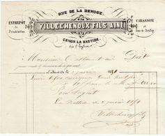 Gironde, Cenon La Bastide, Villechenoux Fils Aîné, Carassone, Bois De Chaufage.. 1851 - 1800 – 1899