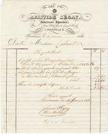 """Gironde, Bordeaux, """"Au Soleil D'Or"""", Aristide Segay, Fabricant Bijoutier 1851 - France"""