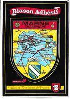 MARNE CHAMPAGNE - BLASON ADHESIF - Villes Et Provinces De France - France