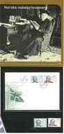Norge Norway 2003 Nobel Prizw: Bjørnstjerne Bjørnson And Lars Onsager ,  Mi 1482-1483 MNH(**) And FDC In Folder - Norwegen