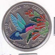 MONEDA DE CUBA DE 1 PESO DEL AÑO 1996 DE FAUNA DEL CARIBE - COLIBRI - Cuba