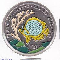 MONEDA DE CUBA DE 1 PESO DEL AÑO 1996 DE FAUNA DEL CARIBE - PARCHE AMARILLO - Cuba