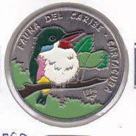MONEDA DE CUBA DE 1 PESO DEL AÑO 1996 DE FAUNA DEL CARIBE - CARTACUBA - Cuba