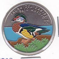 MONEDA DE CUBA DE 1 PESO DEL AÑO 1996 DE FAUNA DEL CARIBE - PATO HUYUYO - Cuba