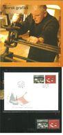 Norge Norway 2003 Norwegian Graphics: Grøstad And Nesch  Mi 1486-1487 MNH(**) And FDC In Folder - Norwegen