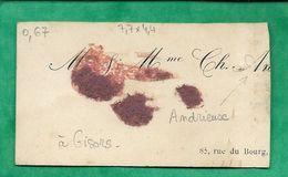 Carte De Visite M. Ch. Andrieux 85 Rue Du Bourg à Gisors (cf. N°1028221089 Sur Delcampe) 2scans Photo Au Verso - Tarjetas De Visita