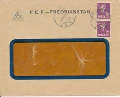 Norway Cover Frederiksstad 1-12-1923 (F.E. F. Frederiksstad) - Norvège