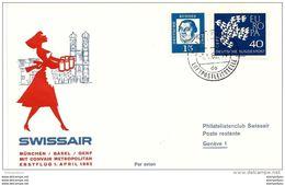 246 - 11 - Enveloppe 1er Vol Swissair München-Basel 1962 Convair Metrpolitan - Avions